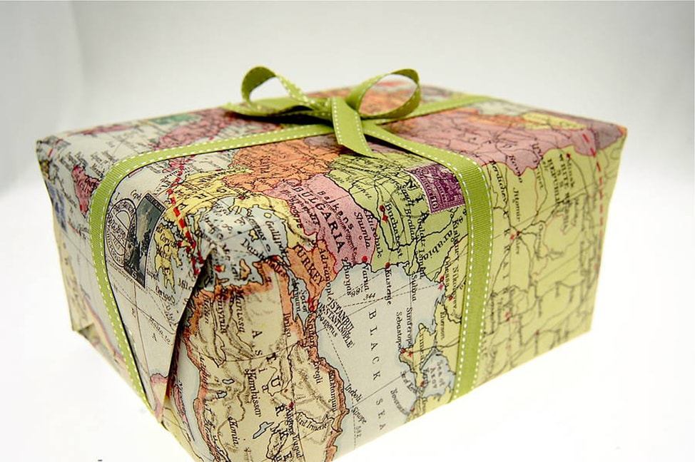 Image of Map Wrapping paper perfect to use on Gifts for Travelers