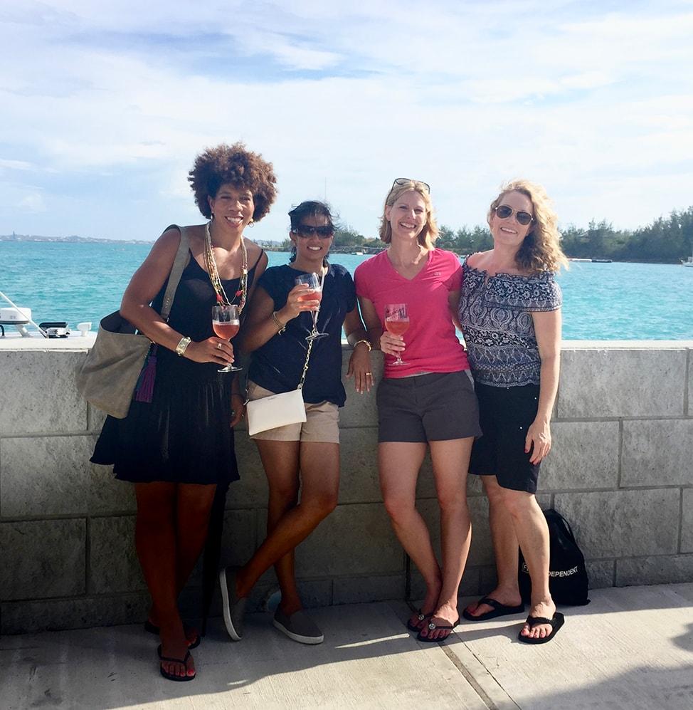 Four college friends reunite in Bermuda