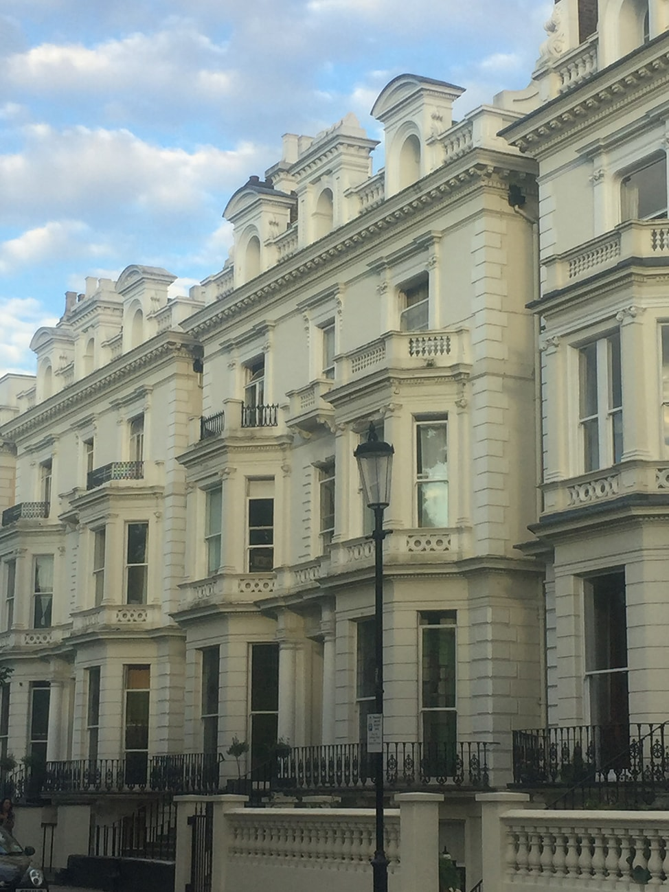 While London row houses