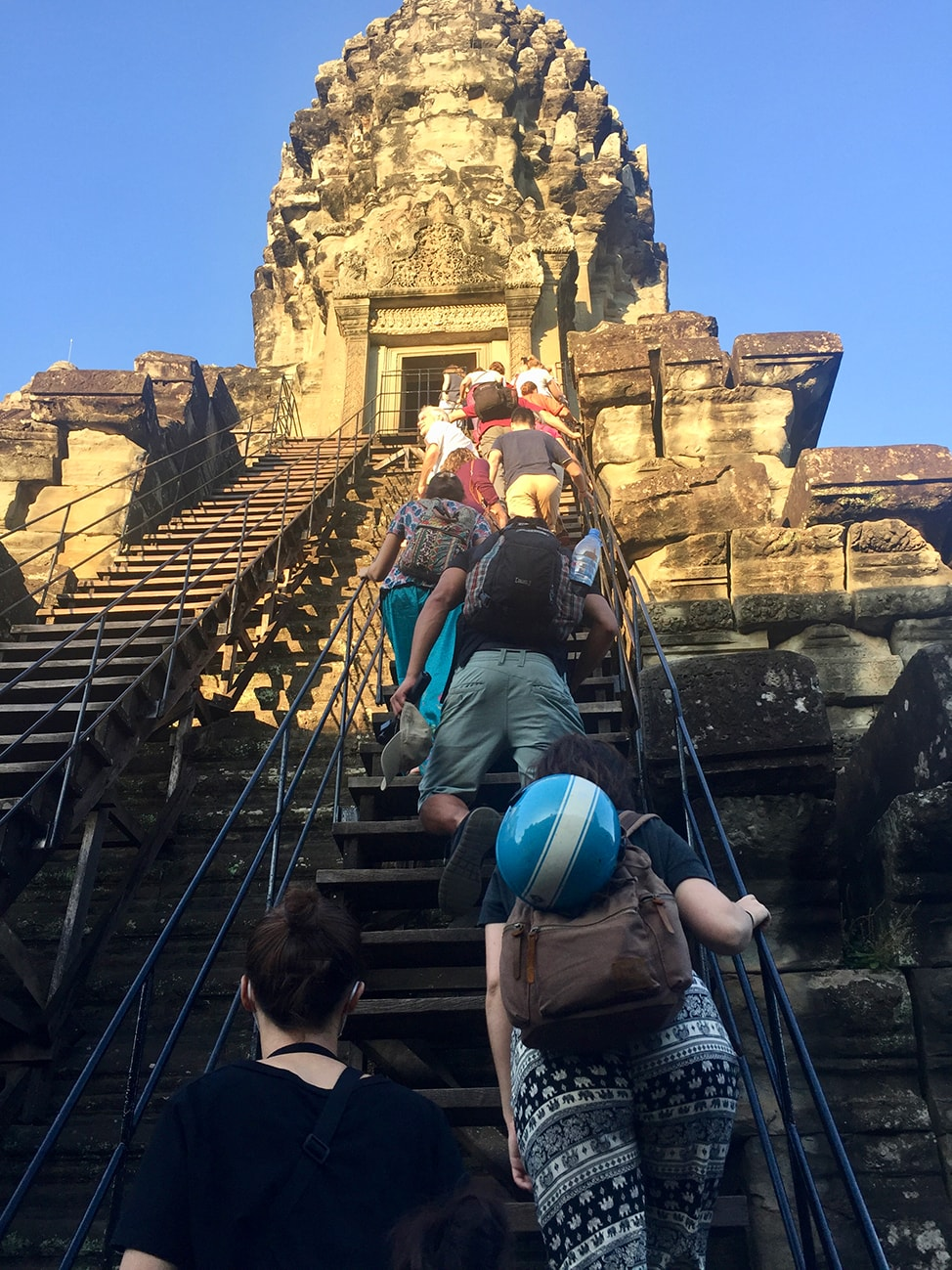 Image of the climb up to the Bakan section of Angkor Wat