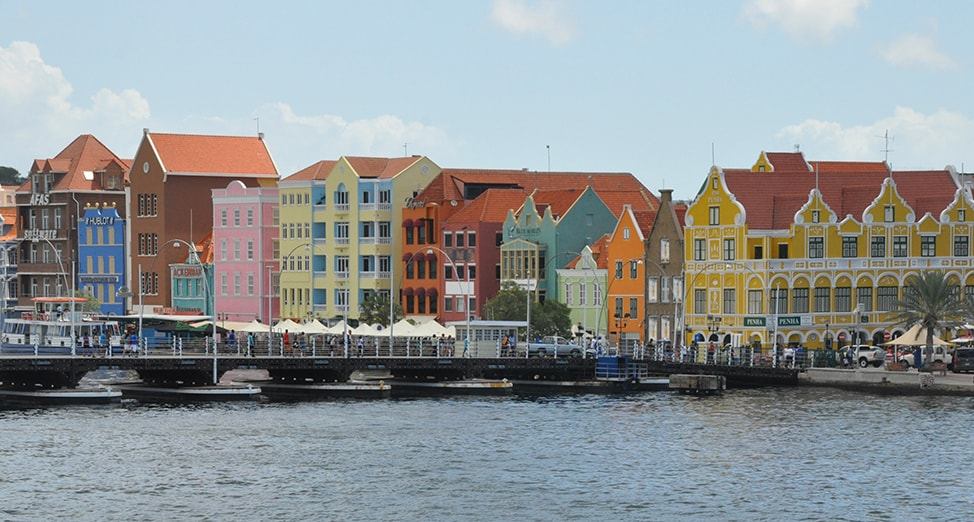 Colorful buildings in Willemstad Curaçao