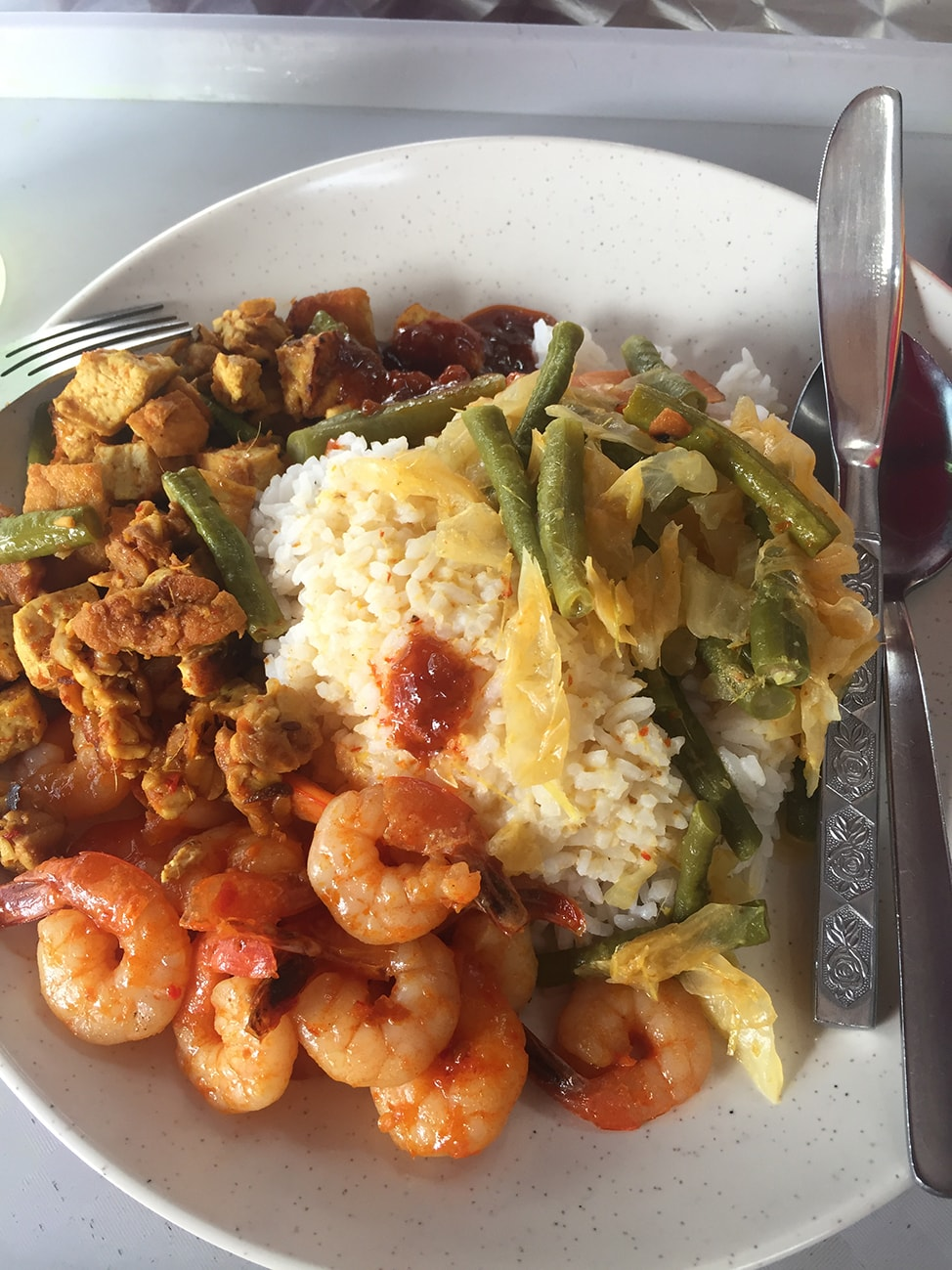 Delicious plate of food at Kampong Glam Cafe
